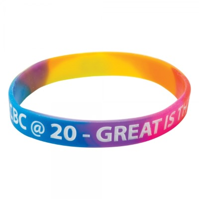 Image of Silicone Wristbands (Adult: Multicoloured Material)